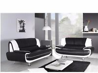 Brand New Karol Italian Leather Sofa 3 And 2 Seater Sofa in 3 different colours