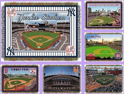 Team Tapestry Throw (MLB Licensed Stadium Tapestry Afghan Throw Blanket - Choose Your Team )