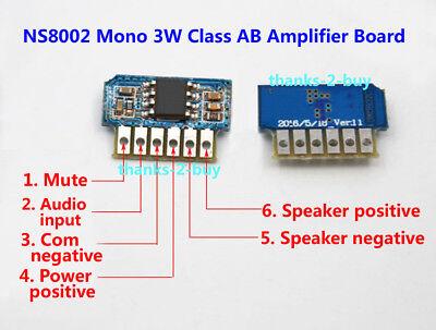 DC 3V 3.7V 5V Class AB Mono 3W Mini Amplifier Board Audio Amp Module One channel