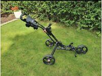 Folding Three Wheel Golf Trolley