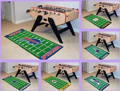 NFL Licensed Football Field Runner Rug Floor Mat Carpet Man Cave - Choose Team