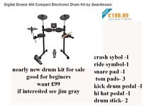 electronic drum kit for sale suitable for beginer's and drummers alike head phones allow quietness