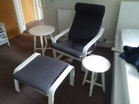rocking armchair with matching footstool and two side tables excellent condition can deliver