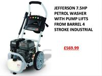 JEFFERSON 7.5HP PETROL WASHER WITH PUMP