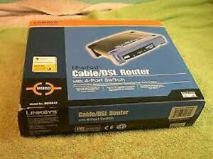New Cable/DSL Router With 4-Port Switch Wired Etherfast