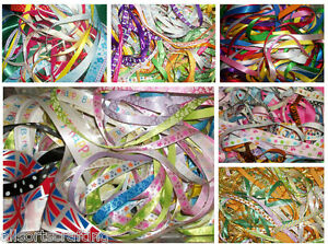 50-x-1-metre-of-Assorted-Colours-Widths-Mixed-Ribbon-Off-Cuts-Bundle