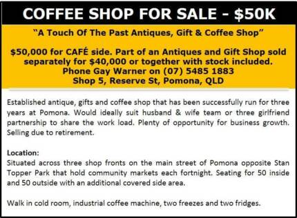 Coffee Shop FOR SALE - 50K Pomona Noosa Area Preview