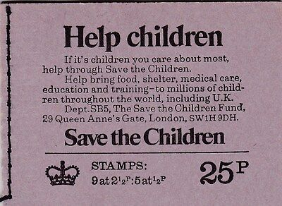 25P BOOKLET JUNE 1973 SAVE THE CHILDREN  SG DH52