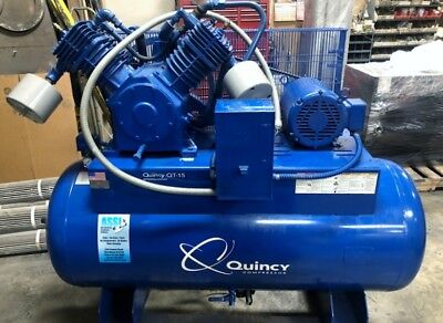 Quincy Qt-15 Air Compressor 10hp 120 Gal Tank