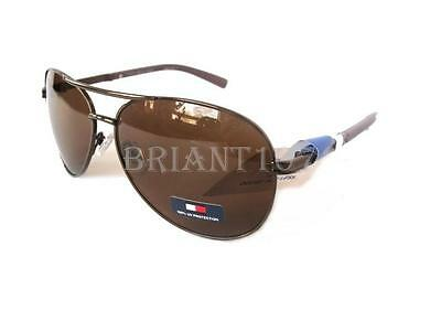 New TOMMY HILFIGER Mens Sunglasses Bae Bronze/Brown $60 -tiny defect