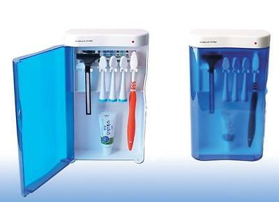 Toothbrush Sanitizer Sterilizer - UV Ultraviolet Family Toothbrush Sanitizer Sterilizer Cleaner Organizer