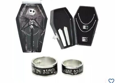 Sally Nightmare Before (Nightmare Before Christmas 2 Pc Ring Set Jack And Sally Simply Meant To Be)