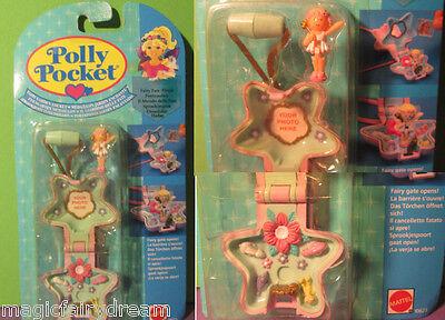 Polly Pocket Mini NEU ♥ Stern Kettchen ♥ Fairy Garden Locket ♥ OVP ♥1992 ♥ NEW ♥