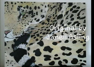 Leopard,   acrylic on wood, painting