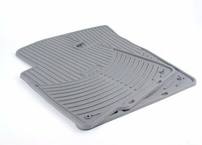 BMW Genuine E46 3 Series Convertible All Weather Rubber Floor Mats Front GRAY