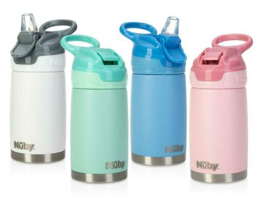 Nuby Busy Sipper 2-Stage Stainless Steel Cup - Silicone Spout - 10oz - BPA Free