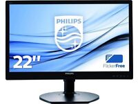 PHILIPS 221S6LCB LCD MONITOR 22 INCHES 1280 X 1080 FULL HD BRAND NEW BOXED