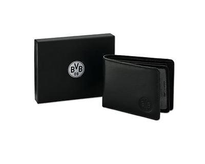 BVB Borussia Dortmund Ledergeldbörse / Geldbörse / Geldbeutel incl. Geschenkbox