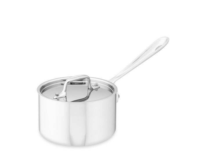 All-Clad Tri-Ply Stainless-Steel  2-qt Sauce Pan with lid