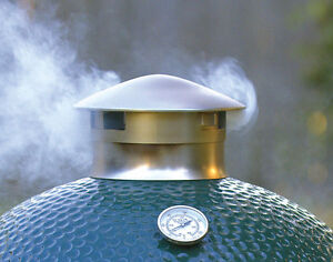 Chimney Cap Replacement for Big Green Egg (Stainless Steel Improved)
