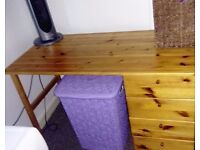 LOVELY PINE DESK WITH 4 DRAWERS - GREAT CONDITION