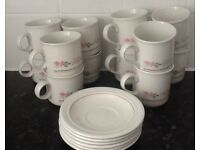 6 coffee cups & 6 teacups with 6 saucers - £6