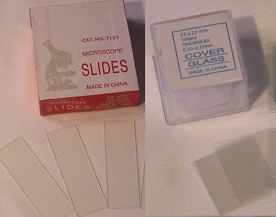 300 Blank Microscope Slides 300 Cover Glass Slips 2222