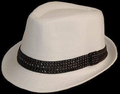 Ganster Hats (1 FEDORA TRILBY GANSTER PARTY DANCE HAT kid S M L)