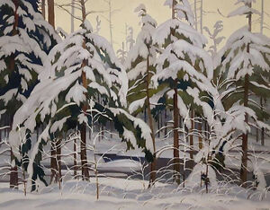"Limited Edition ""Snow Laden Spruce"" by A.J. Casson"