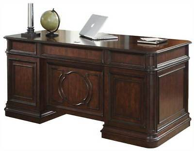 Brayton Manor Clasic Cherry Executive Office Desk - Double Pedestal