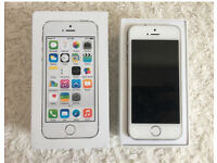 Great White/Silver iPhone 5s 16gb Mobile Phone EE