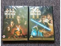 Star wars revenge of the sith and attack of the clones dvd
