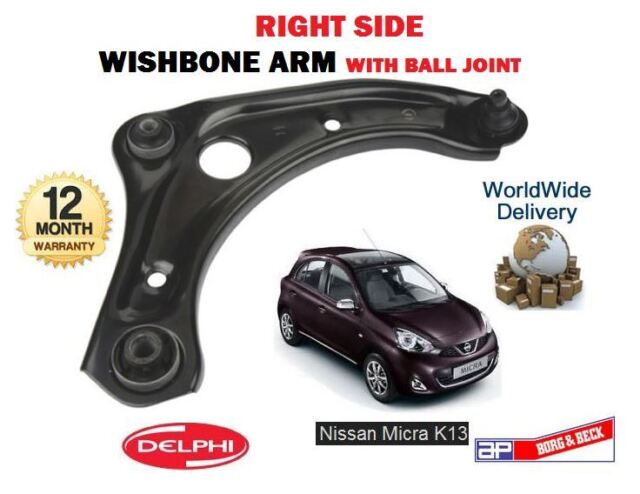 FOR NISSAN MICRA K13 1.2 2010-->NEW 1 X RIGHT LOWER WISHBONE SUSPENSION ARM