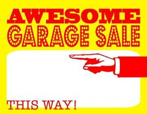 Large yard sale Saturday Aug4