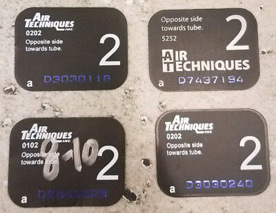Used Air Techniques Scan X Phosphor Plates Size 2 Quantity 4