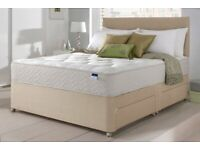 Brand New High Quality Luxury Leather/Fabric Divan Bed Sets Inc Mattress & Headboard (Free Delivery)