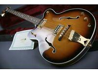 RARE! JAP GRETSCH G6072 -1958 REISSUE HOLLOW BODY BASS & GRETSCH CASE & COA