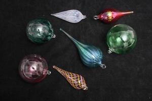 Handblown Glass Christmas Ornaments