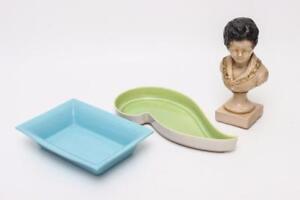 Ceramic Planters & Bust Sculpture