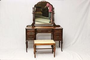 Antique Vanity & Bench
