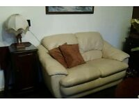 Leather sofas set + 2 matching sofas cover