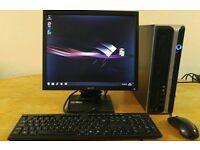 "RM Desktop PC Computer Slim Form & Acer 17"" Monitor"