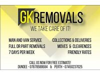 GK Removals: Cheapest Man & van/removals/skip runs! Covering , Perth,Dundee, Fife + surroundings!