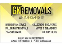 GK Removals: Cheapest Man & van/removals/skip runs! Covering Perth,Dundee, Fife + surroundings!