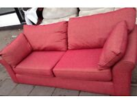 Retro designer ex display new sofa & armchair very comfy can delivery free local only