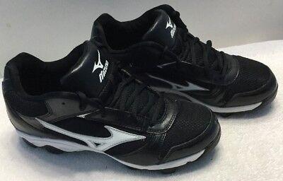 87f7e02e4aa Mizuno Men s 9 Spike Franchise 6 Mid Baseball Cleats Black Size 7.5