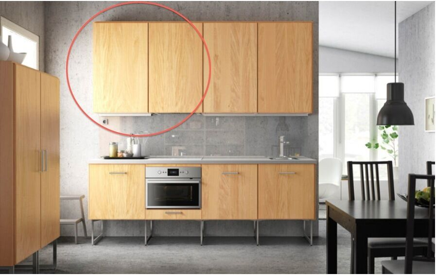 2 hyttan ikea kitchen cabinets oak veneer collection for Kitchen cabinets gumtree