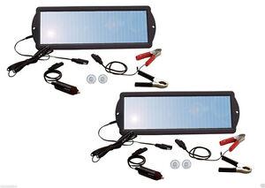 2 Pack Coleman Sunforce 2 watt Solar Trickle Battery Tender