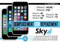 Reparation LCD iPhone 6/6+. 5/5S/5C 4S/4
