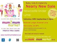 NEWCASTLE UNDER LYME Mum2Mum Market NEARLY NEW BABY SALE
